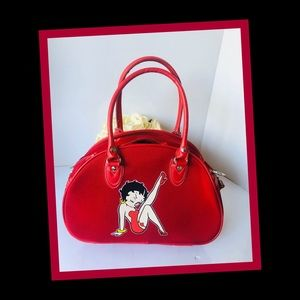 Vintage BETTY BOOP RED 💋 KISS purse